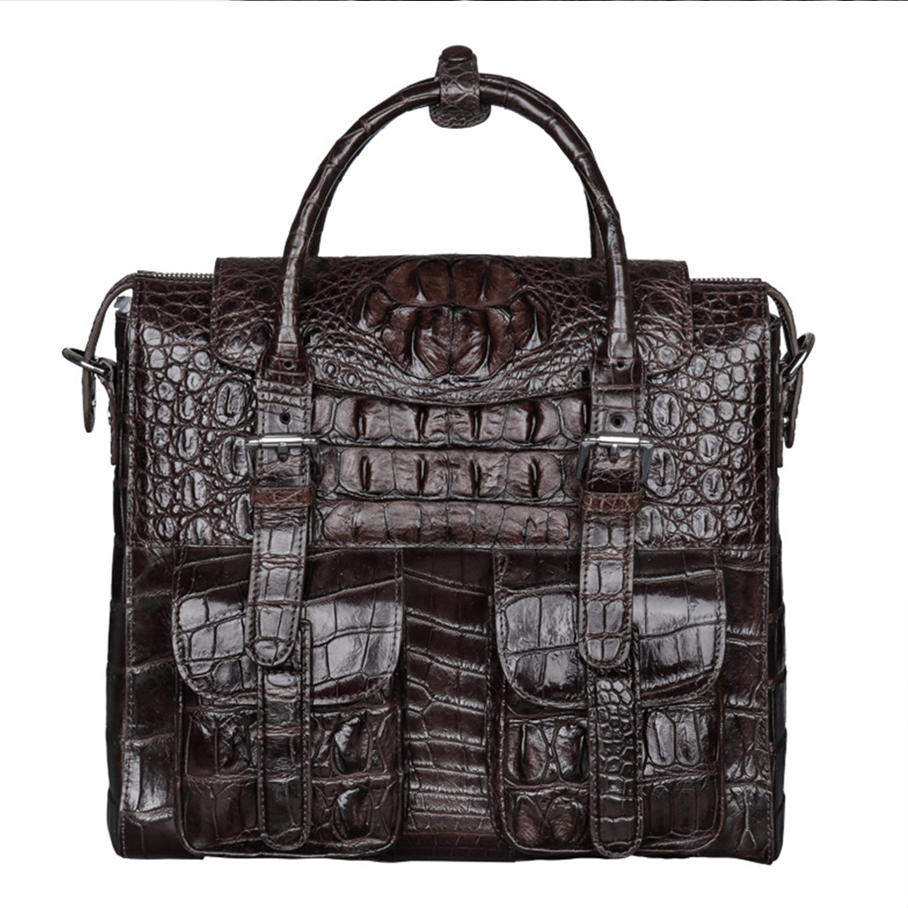 Crocodile leather business briefcase laptop handbag men shoulder Messenger bags Designer briefcase High capacity Crossbody bag high capacity men handbag cowhide genuine leather bags messenger shoulder bag cross body male business briefcase laptop pack