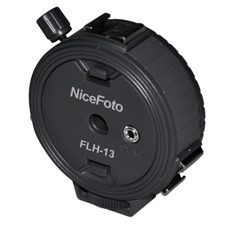 NiceFoto One Sync Socket to 3 Hot Shoe Adapter,3 in 1 Flash Bracket hot  shoe Flash Speedlite Holder Mount Umbrella Light