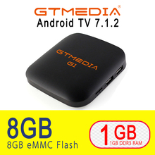 Android 7.1 tv box 1GB RAM 8GB ROM IPTV 4Kx2K HD 2.4G Wifi set top G1 S905W media player smart google freesat