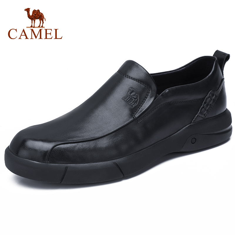 CAMEL Men s Casual Shoes England Tide Big Scalp Men Loafers men s Oil Wax Soft
