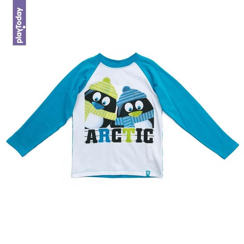 T-Shirts PLAYTODAY for boys 371114 Children clothes kids clothes 2015 new arrive super league christmas outfit pajamas for boys kids children suit st 004