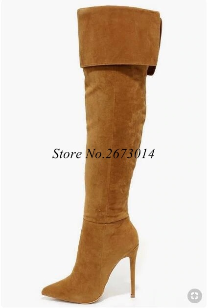 Hot-Selling-Bronw-Suede-Leather-Over-The-Knee-Thigh-High-Boots-Pointed-Toe-Fold-Over-Winter.webp