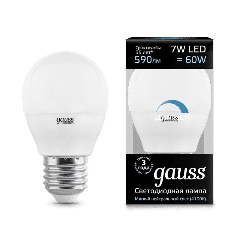Lampe à LED ampoule boule diode dimmable E14 E27 G45 7 W 3000 K 4000 K lumière froide neutre chaude Gauss Lampada lampe ampoule globe - 5