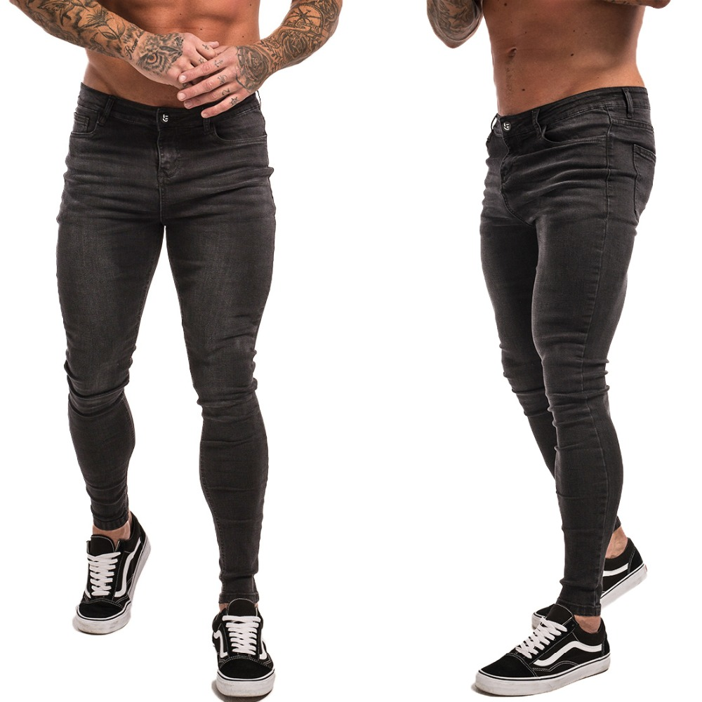 Gingtto Skinny Jeans For Men Black Streetwear Hip Hop Stretch Jeans Hombre Slim Fit Fashion Biker Ankle Tight Dropshipping zm01 1