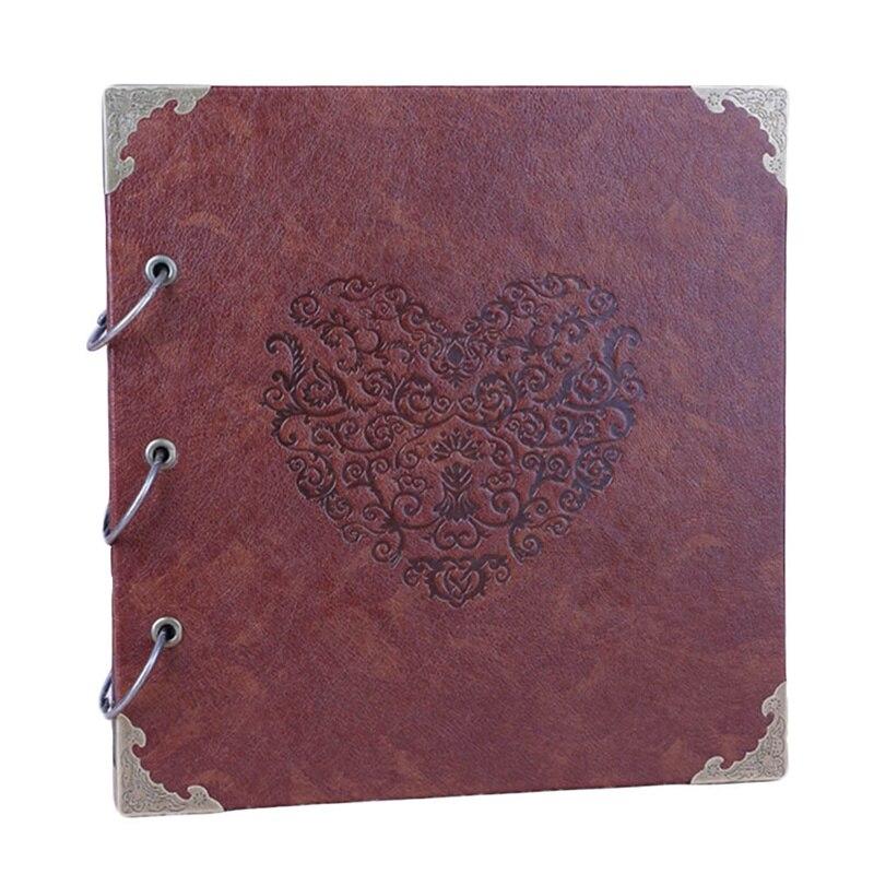 New Handmade Scrapbook Craft Album DIY Change Color Leather Loose Leaf Photo Album Wedding Photo Albums Gift