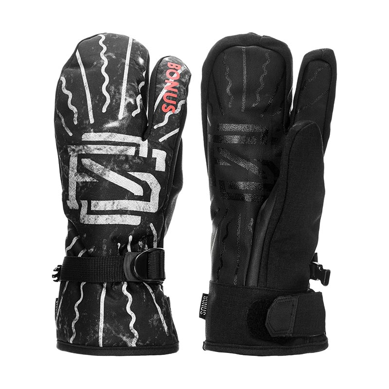 BONUS GLOVES - ONE FINGER sports 3 half finger anti skid gloves brown black grey pair