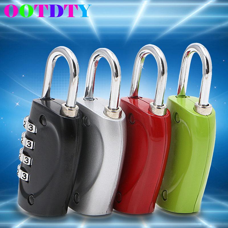 4 Password Combination Lock Dial Digit Combination Suitcase Luggage Metal Code Password Lock Padlock three digit password lock