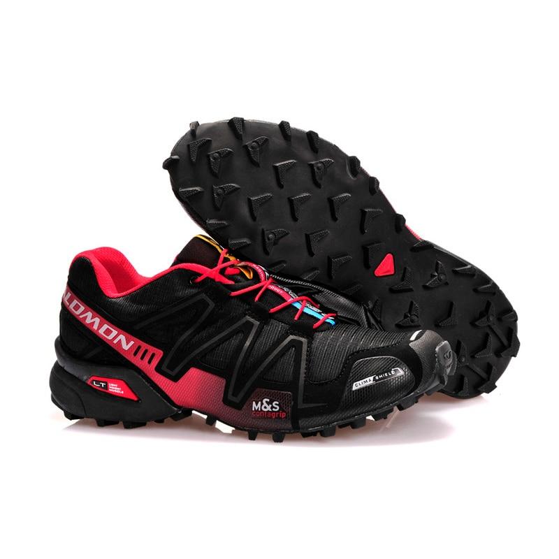 2018 New Salomon Speed Cross 3 CS III Outdoor Sports Shoes speed cross men black red running shoes eur 40-46