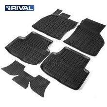 Для Skoda Octavia A7 2013-2019 Резиновые коврики в салон 5 шт./компл. Rival 65101001