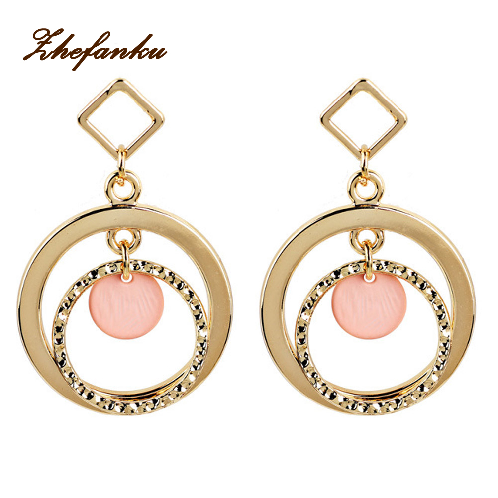 Circle Clip On Earrings Long Retro Geometric Exaggerated Personality Pierced Ears Ring Ear Clip 2017