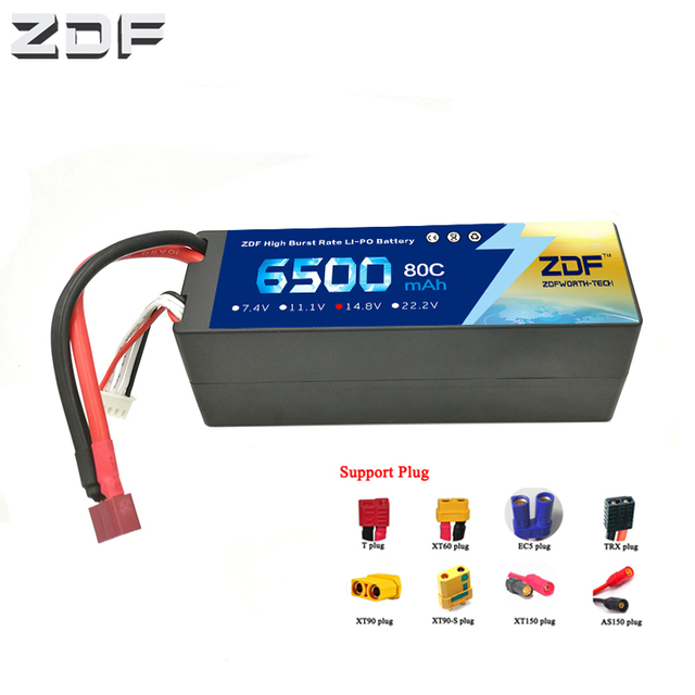 ZDF RC Car Lipo Battery 4S 4P 14.8V 6500mah 80C Max 160C Hard Case For RC Helicopter Quadcopter Airplane Traxxas Car RC Truck