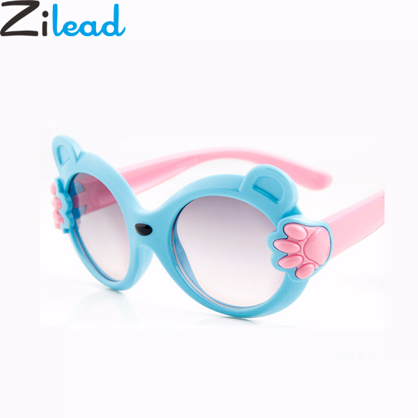 Zilead Cute Baby Bear Cartoon Sunglasses Brand Bear's-paw Sun Glasses Children UV Shade Eyeglasses Eyeware For Girls&Boys