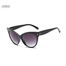 2017 Sunglasses women with box Classic CatEye Style Brand Designer Fashion Shades black plastic Sun Glasses oculos de sol SOJOS