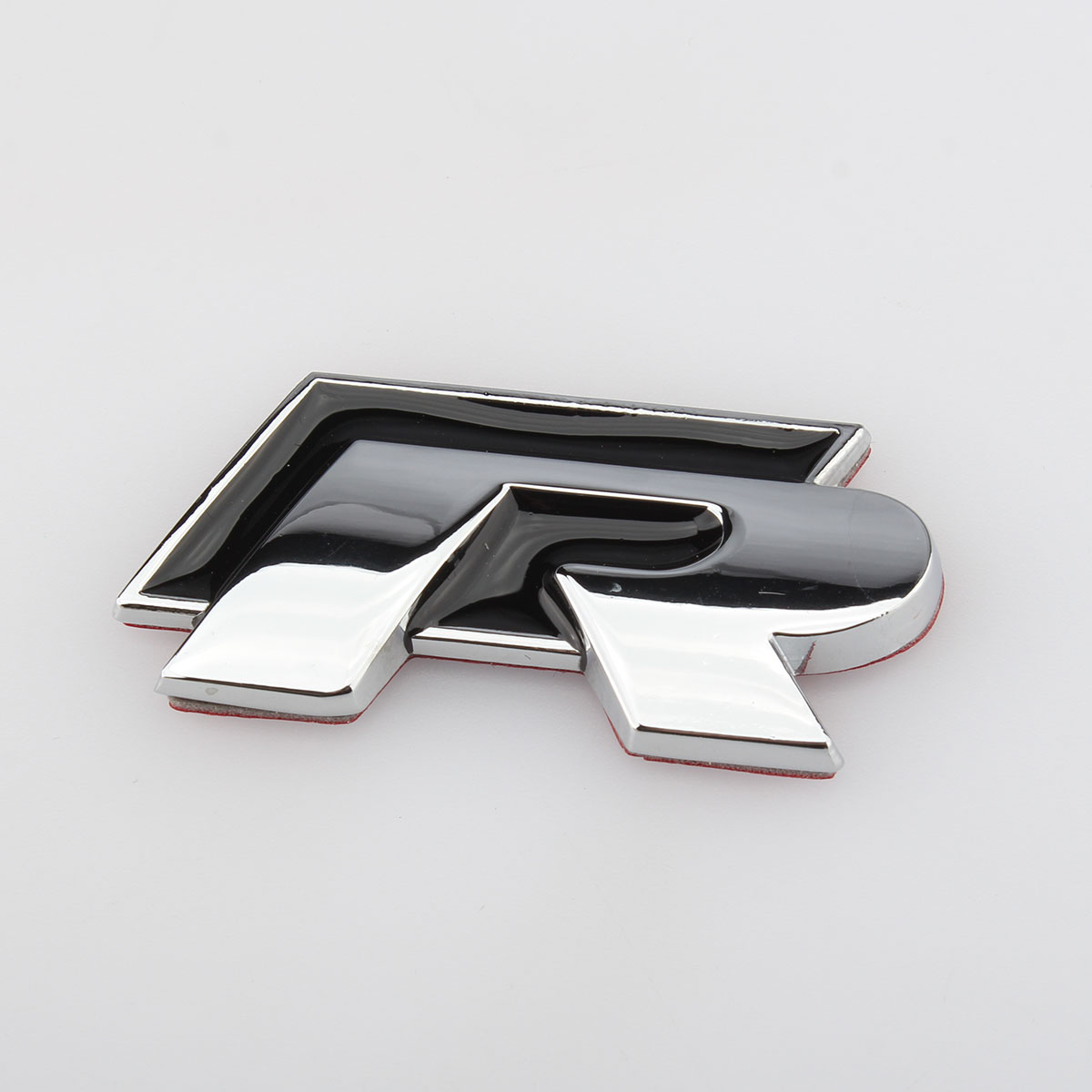 Гриль Логотип задний значок наклейка хромированная эмблема R 3D Автомобильная наклейка для VW Golf Jetta Touareg Tiguan Passat