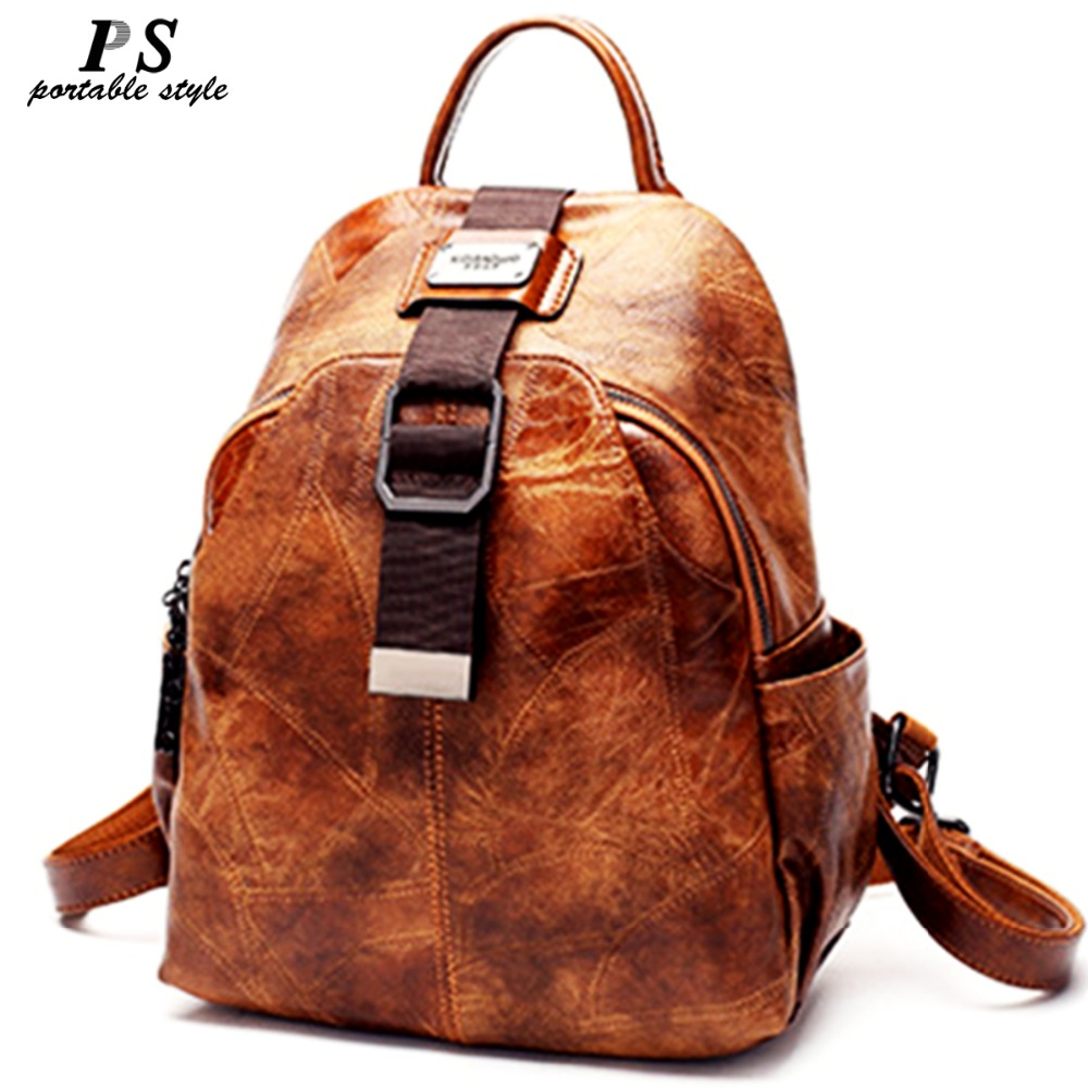 High Quality Women backpack 100% genuine leather back pack Famous Brand lady real leather backpacks fashion preppy style bagHigh Quality Women backpack 100% genuine leather back pack Famous Brand lady real leather backpacks fashion preppy style bag
