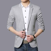 New Arrival Luxury Men Blazer High Quality Cotton Solid Chinese Slim Fit Men Suit Terno Masculino Blazers Men