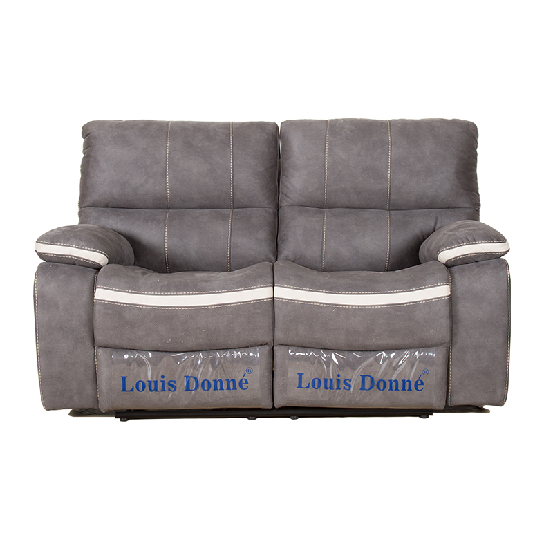Louis Donne Classic Dark Grey Fabric Oversize Recliner Loveseat Sofa, Ultra  Comfortable Living Room Chair