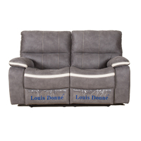 Louis Donne Classic Dark Grey Fabric Oversize Recliner Loveseat sofa, Ultra Comfortable Living Room Chair Traditional