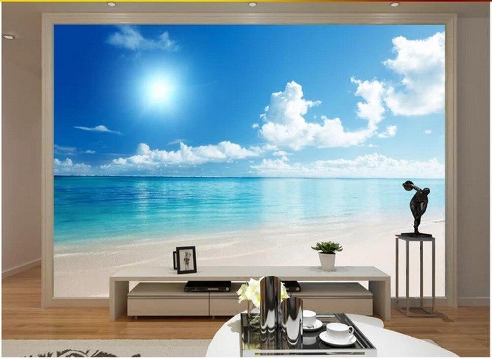 Custom 3 D Photo Wallpaper Wall Murals 3d Wallpaper Beach: Custom 3d Photo Wallpaper Murals Mediterranean Mural