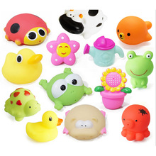 1pcs Kawaii baby bath toys High quality Vinyl Educational Rattle toy for 0 4 years Newborn
