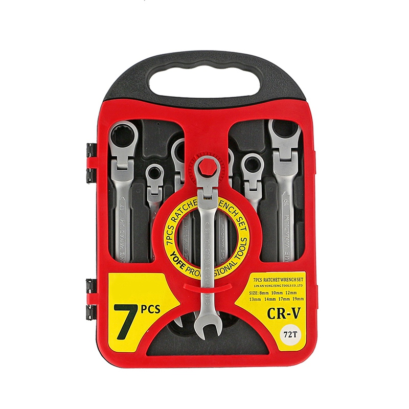 Hoomall 7pcs Wrench Car Repair Tool Ratchet Handle Set Universal Torque Wrench Combination Professional Hand Tools Sets xkai 14pcs 6 19mm ratchet spanner combination wrench a set of keys ratchet skate tool ratchet handle chrome vanadium