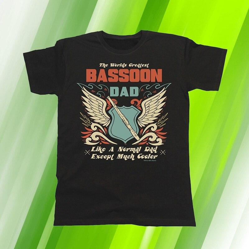 T-Shirt Homme Worlds Greatest Basson Papa Sauf Beaucoup Plus Froide Musique Fete Des Peres