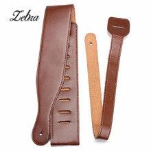 Zebra 1Pcs 115cm Brown Adjustable Soft PU Leather Ukulele Guitar Belts Guitar Strap For Acoustic Guitar Bass Parts Accessories