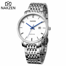 NAKZEN Luxury Brand Men's Quartz Watches Waterproof Sapphire Clock Simple Business Watch Classic Male Watch relogio masculino
