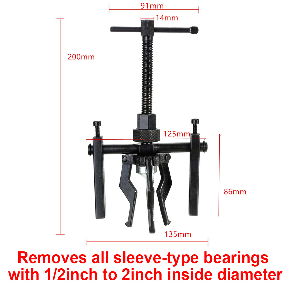 Adjustable Range Gear Extractor Heavy Duty Transmission Automotive Manual Machine Top Sell Tool Kit for Motorcycle Car Auto 3 Jaw Inner Bearing Puller