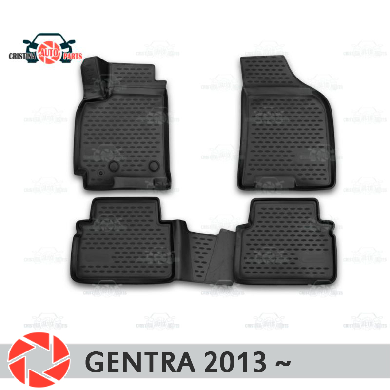 Floor mats for Daewoo Gentra 2013~ rugs non slip polyurethane dirt protection interior car styling accessories custom car floor mats for mini countryman coupe paceman clubman cabrio roadster car accessorie car styling floor mat