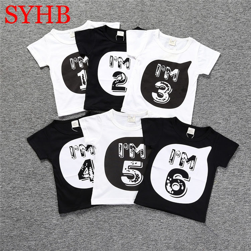 Boys t Shirts Birthday Age Number Print Kids Girls tee Tops 100% Cotton Baby Clothing Boys' t-Shirts Summer Clothes WUA7430010 boys t shirts birthday age number print kids girls tee tops 100% cotton baby clothing boys t shirts summer clothes wua7430010