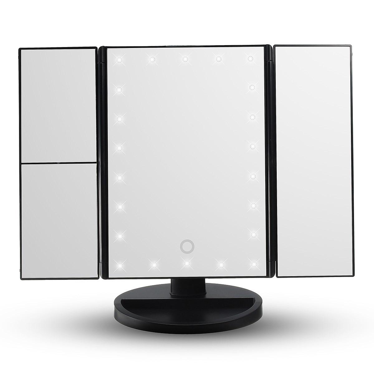 Online Shop HOT Touchscreen Led Licht Make Spiegel 3 Vouwen ...