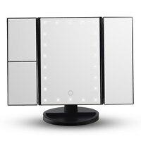 Touch Screen HOT Luz Led Maquiagem Espelho Dobrável 3 Led Iluminado Espelhos de Aumento Mesa de Desktop Maquiagem Espelho de Vaidade Com Luzes