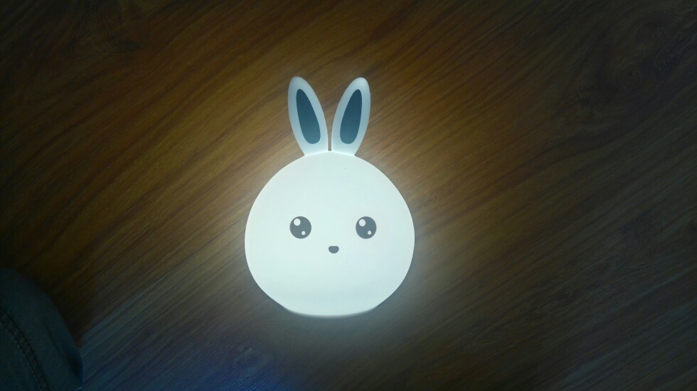Led Night Lights 1200mah Led Night Light Cute Rabbit Colorful Silicone Desk Table Lamp Bedroom Charging Lighting 4 Hours For Children Kids Gifts Warm And Windproof Lights & Lighting