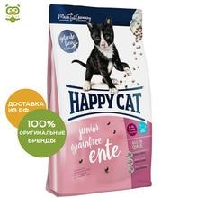 Happy Cat Junior Grainfree для котят с чувствительным пищеварением, Утка и картофель, 300 г.