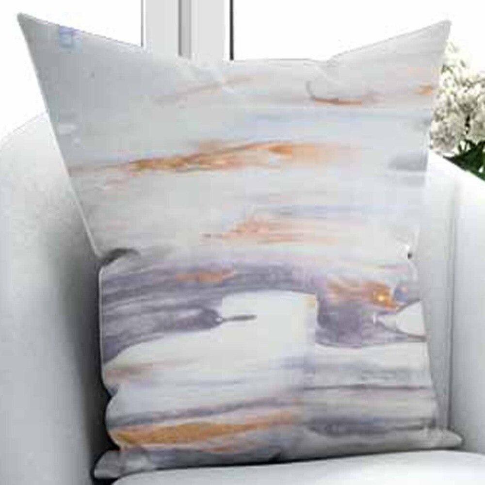 Autre Orange bleu marine gris marbre Design nuage Nordec 3D impression salon chambre fenêtre panneau rideau combiner cadeau taie d'oreiller