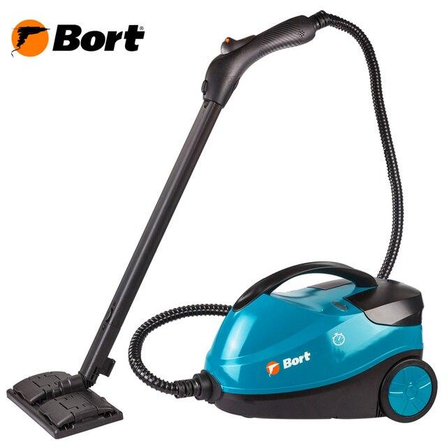 Пароочиститель Bort BDR-2300-R (Мощность 2100 Вт, давление 4 бар, Постоянная подача пара 45 г/мин, Температура пара 143 °С, емкость бака 1500 мл)