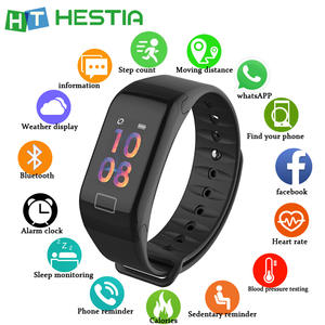 F1 Plus Fitness Bracelet Pedometer Smart Fitness Band Heart Rate Monitor Wristband