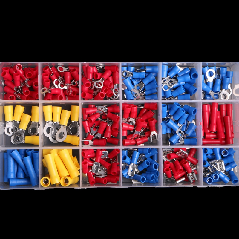 300Pcs/set Assorted Insulated Electrical Wire Crimp Terminals Connector Butt Set with Box 300pcs set assorted insulated electrical wire terminals crimp connectors spade butt w315