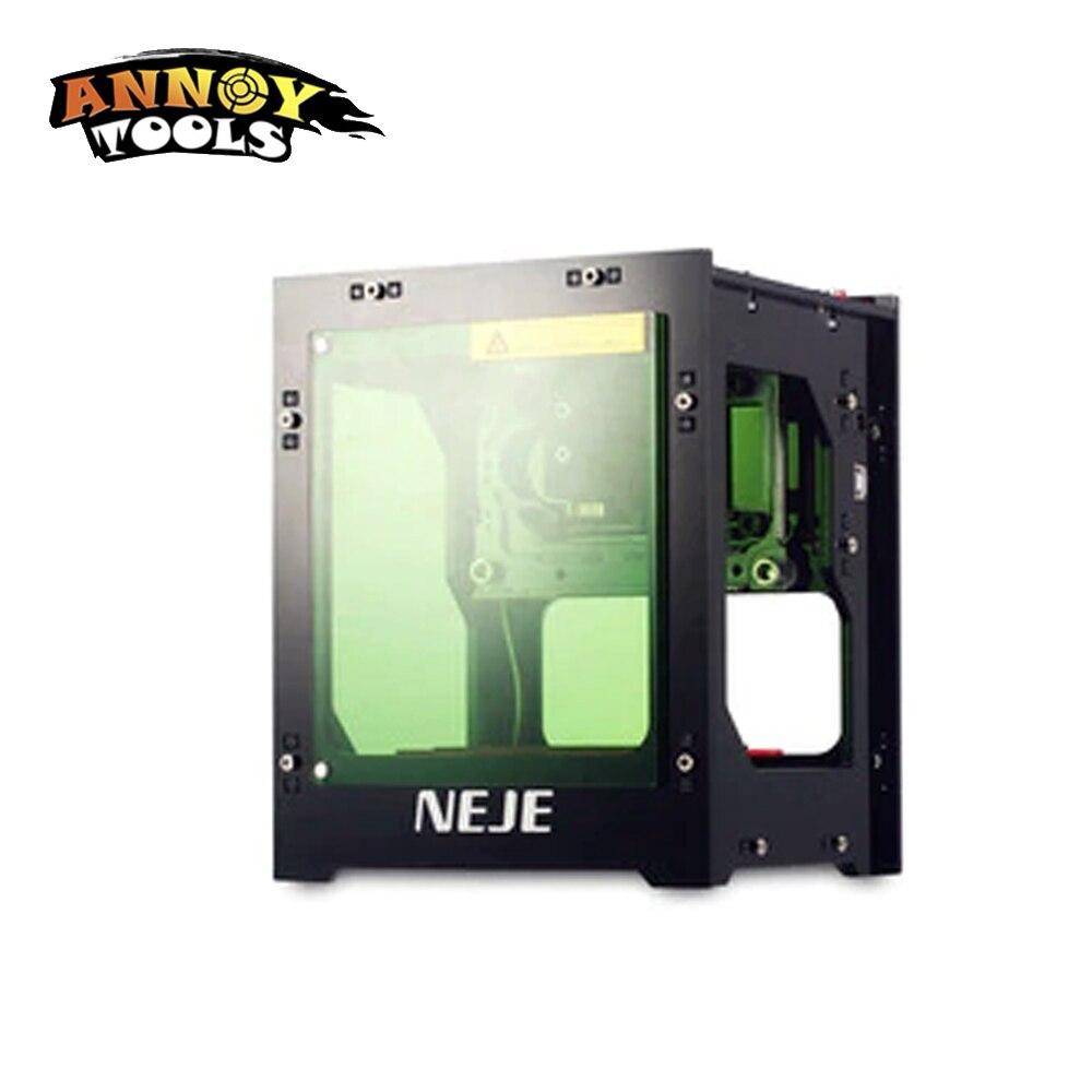 NEJE 1000 MW 1500 MW cnc crouter cortador láser cnc mini máquina de grabado del cnc DIY imprimir grabador láser con protección tablero