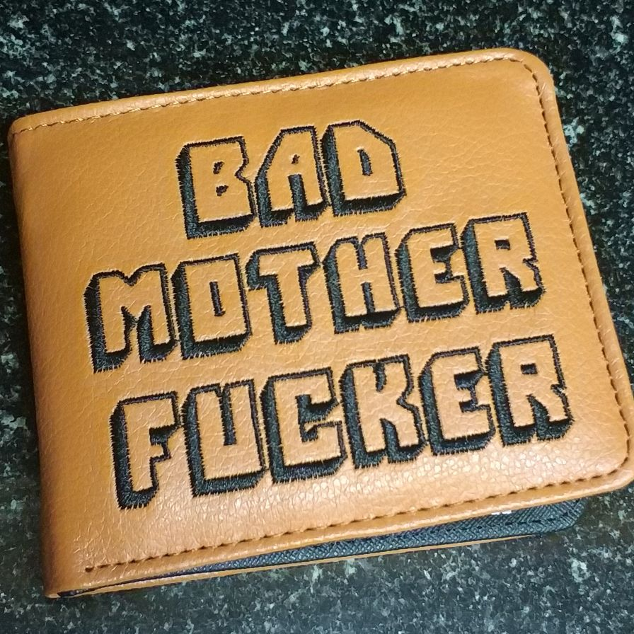 MaDonNo Pulp Fiction Jules Wallet with zipper Coin Pocket Bad Mother Letters Boys Wallet Card Holder Vintage Gift Purse photo review