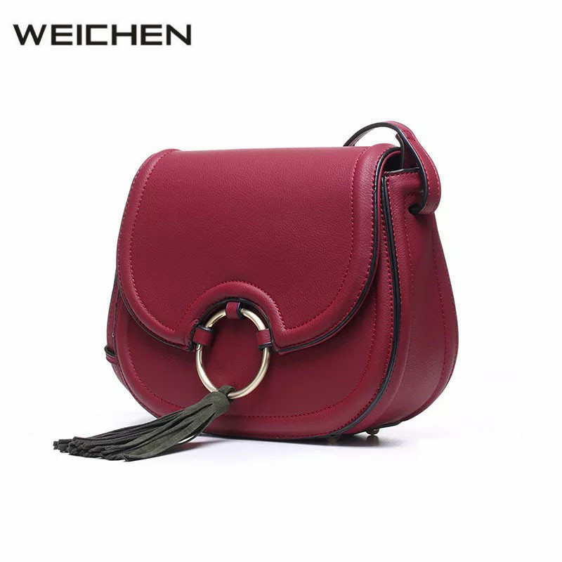 Bags For Women 2018 Famous Brand Newest Tassel Burgundy Shoulder Saddle Bags Female Messenger Bag Girls Crossbody Bag Sac A Main sa212 saddle bag motorcycle side bag helmet bag free shippingkorea japan e ems