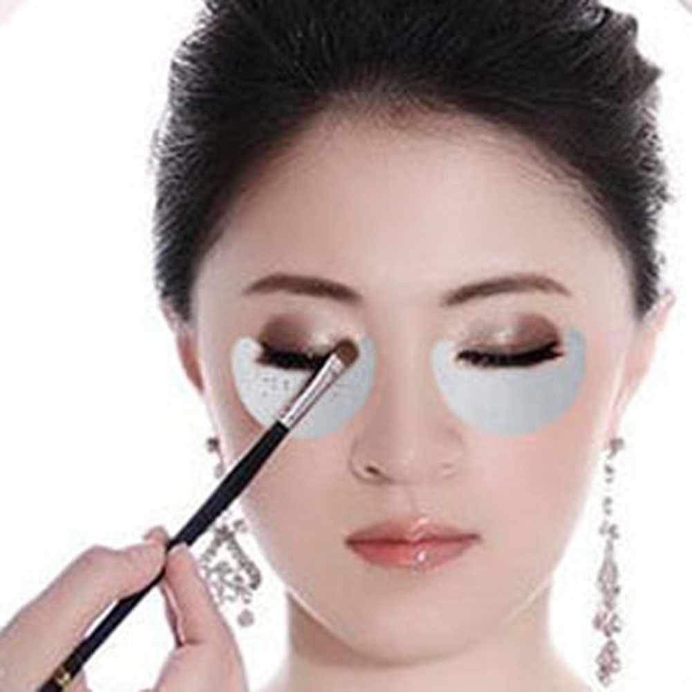 10pcs /pack Makeup Eye Shadow Stickers Grafted Eyelash Isolation Stickers Under The Eye Stickers Smoked Cosmetic Tool