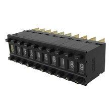 цена на UXCELL 10 Pcs Single Unit Pushwheel Thumbwheel Switch Km1 0-9