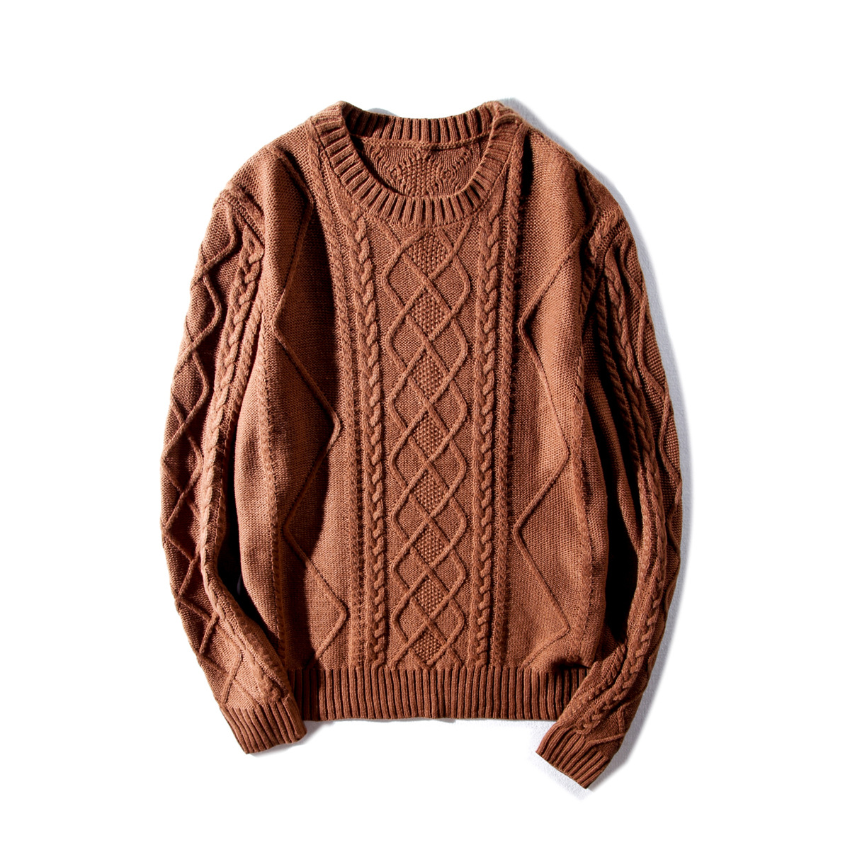 2017 New Male Head Japanese Twist Knit Sweater Male Tide Men's Sweater