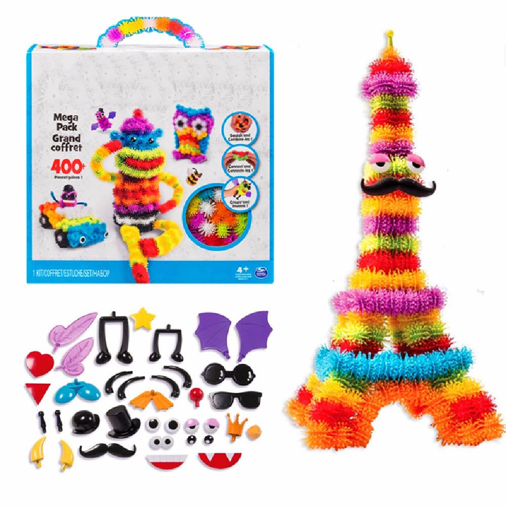 2018 Magic Puffer Ball 400 Pieces 1000 Accessories Build Mega Pack Animals DIY Assembling Spot Best Block Toy Sets For Children magic ball 8 доставка снг