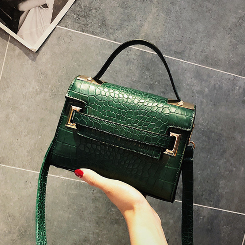 SGARR Fashion Women PU Leather Handbags New Designer Ladies Small Shoulder Bag High Quality Casual Crocodile Crossbody Tote Bags