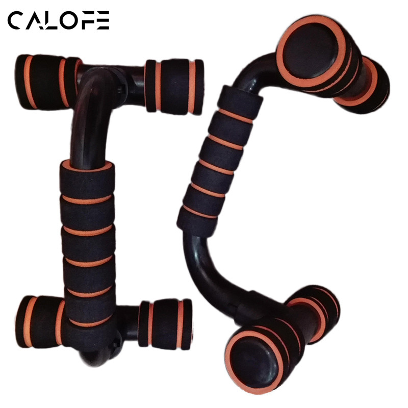 CALOFE 1Pair Push Ups Stands Grip Fitness Equipment Handles Chest Body Buiding Rack Sports Muscular Training Pushup Bar Exercise