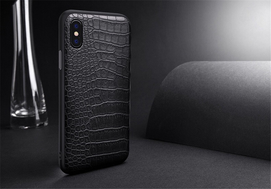 Retro Vintage Phone Bag Case For Iphone X 6 6s 7 7s 8 Plus Crocodile Snake Skin Pattern Soft Protective Cover Shell For iphoneX (3)