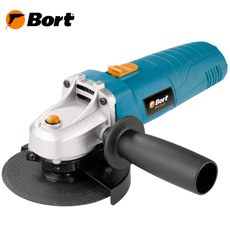 BORT Angle Grinder bulgarian USHM Grinding machine Electric grinder Angle Grinder grinding Power or cutting metal portable Woods Steel Power Tool Warranty BWS-610-P air compressor die grinder grinding polish stone kit air angle die grinder kit pneumatic tools